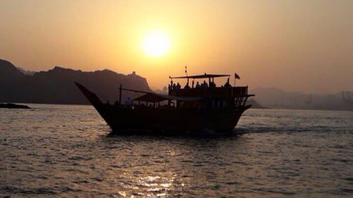 Sun set Dhow Cruise in Marina Bandar
